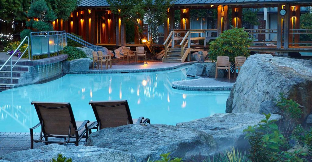 Harrison Hot Springs poolside and chairs